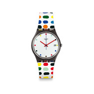 Montre Swatch mixte plastique silicone multicolore