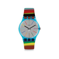 Montre Swatch mixte plastique multicolore
