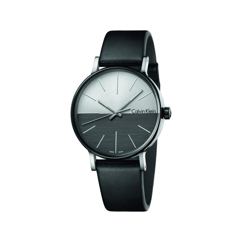 Montre Calvin Klein homme acier plastique noir - Homme - modèle ... 04b3af6c2b4