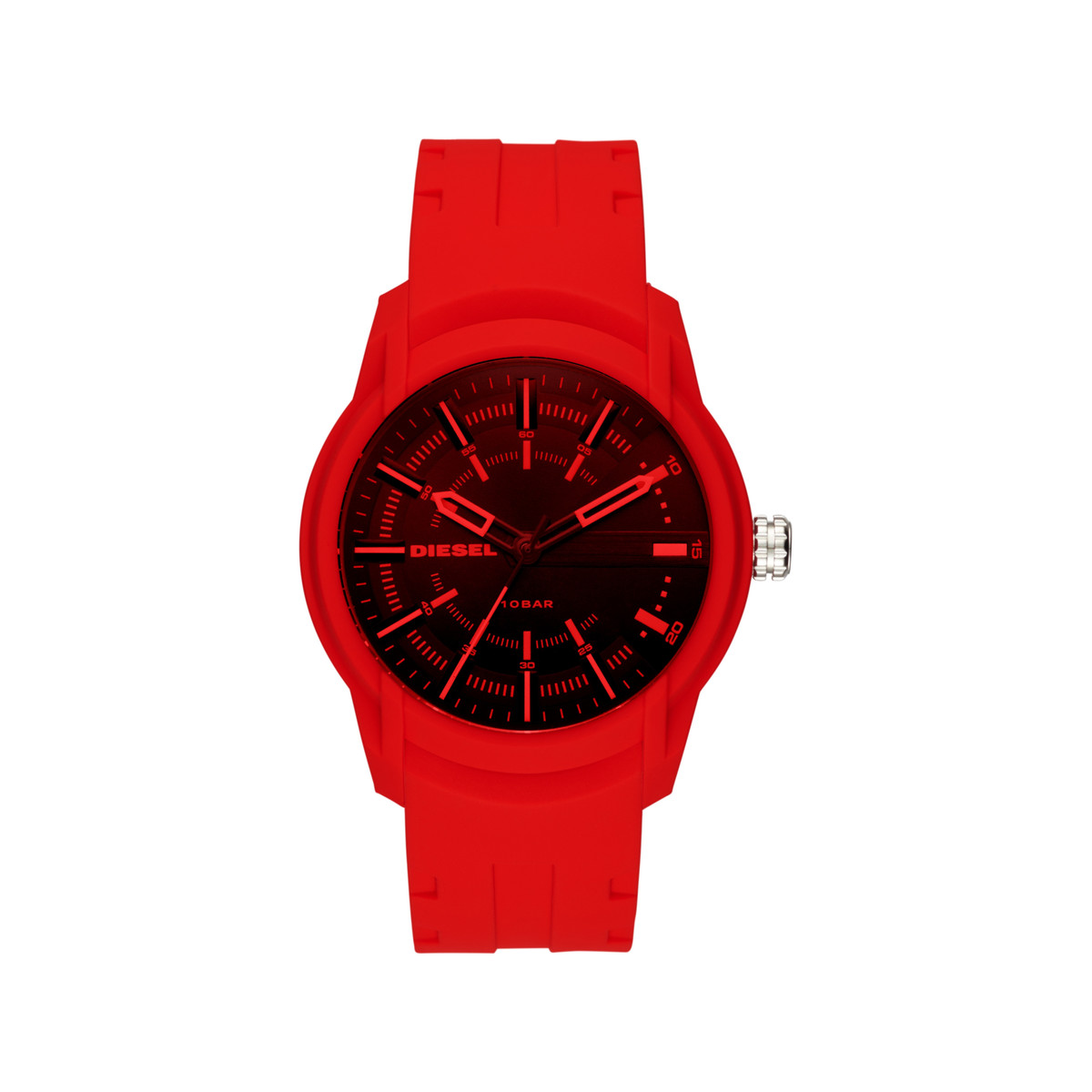 Montre Diesel homme silicone rouge