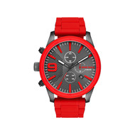 Montre Diesel homme chronographe silicone rouge
