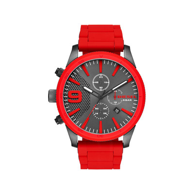 Montre Diesel homme chronographe silicone rouge - vue V1