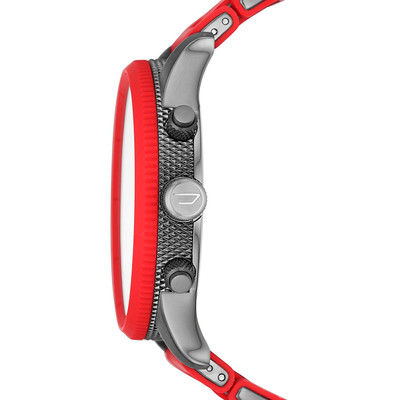 Montre Diesel homme chronographe silicone rouge - vue V3