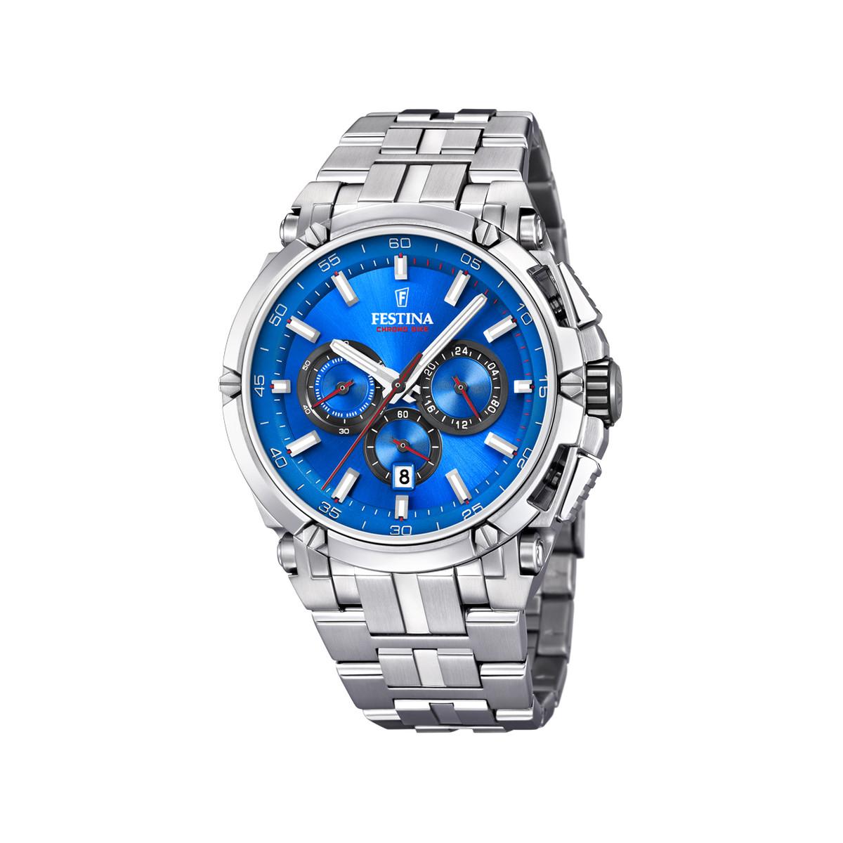 Montre Festina homme chronographe acier - Homme - modèle F20327 2   MATY 006a0b38d8ba