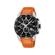 Montre Festina homme chronographe silicone orange