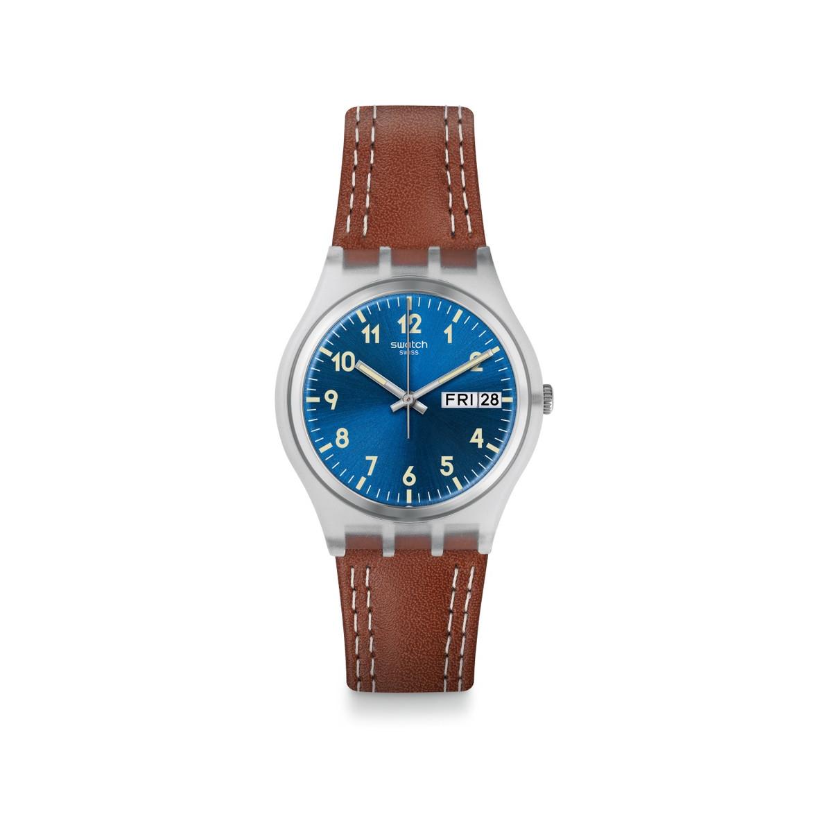 bracelet cuir montre swatch
