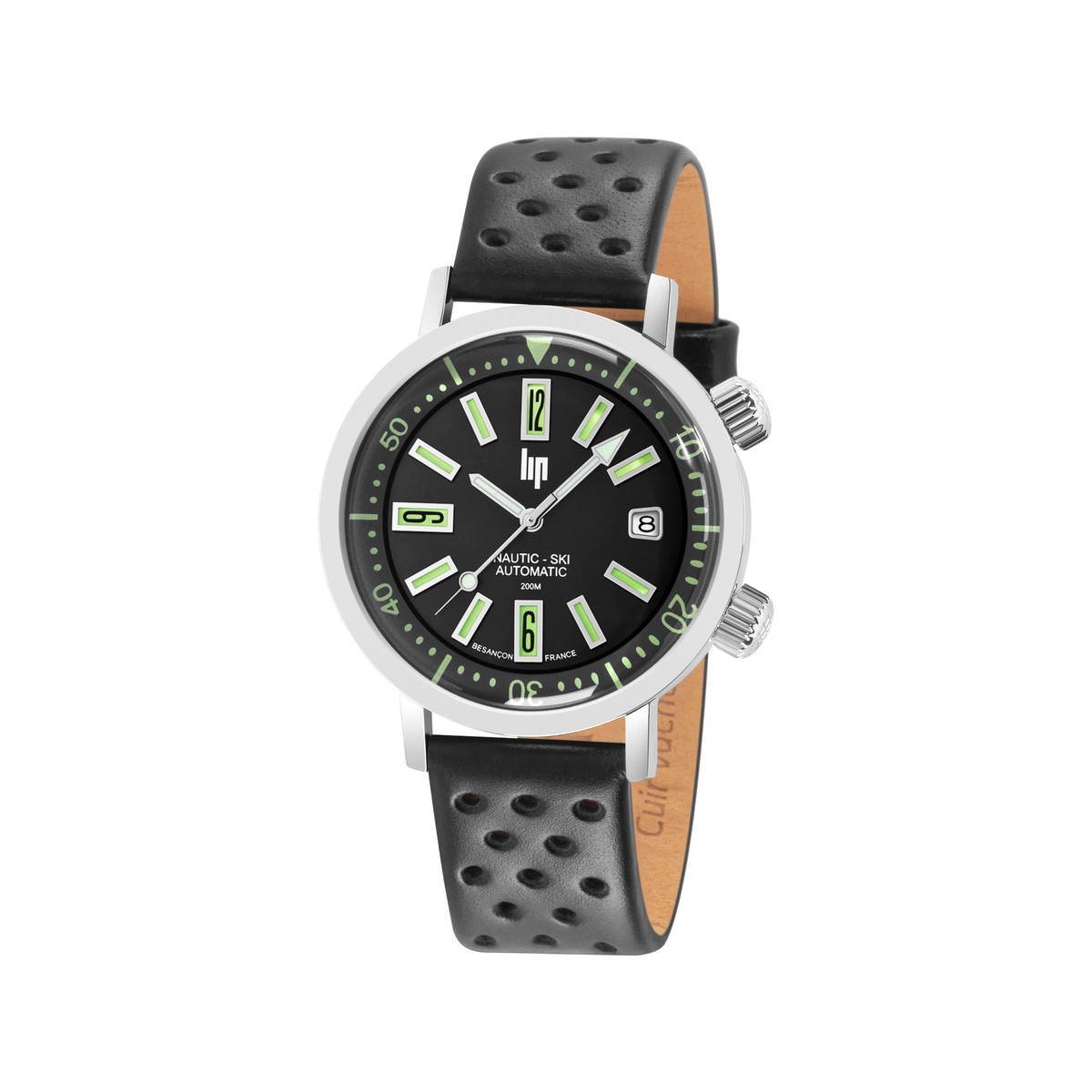 Montre Lip mixte automatique saphir coffret