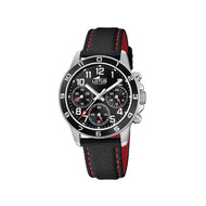 Montre Lotus junior chronographe acier nylon noir