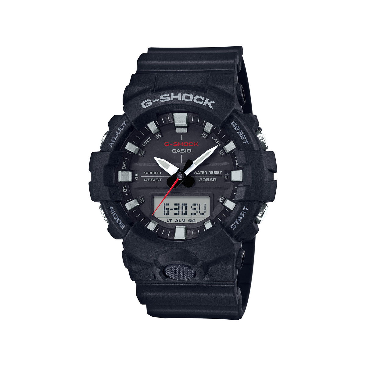 montre casio g shock homme r sine noire homme mod le ga 800 1aer maty. Black Bedroom Furniture Sets. Home Design Ideas
