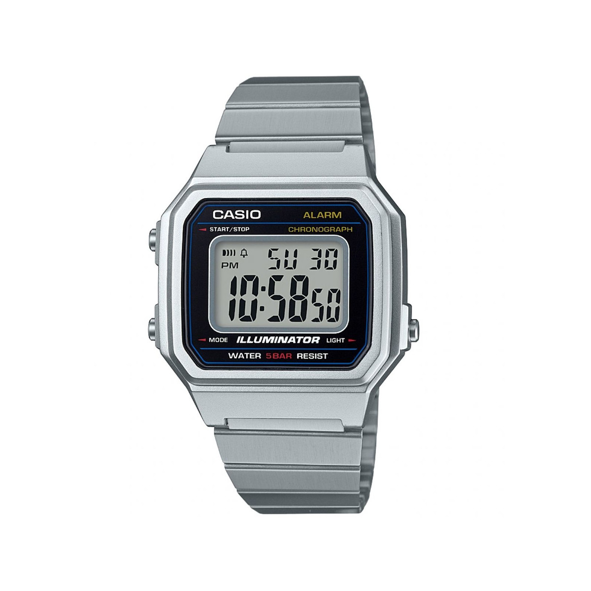Montre Casio mixte digitale acier