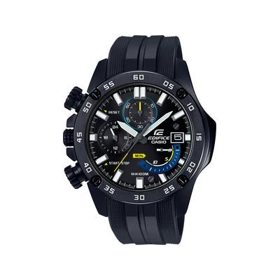 Montre Casio homme chronomètre acier résine noire Homme  Yh7Uy