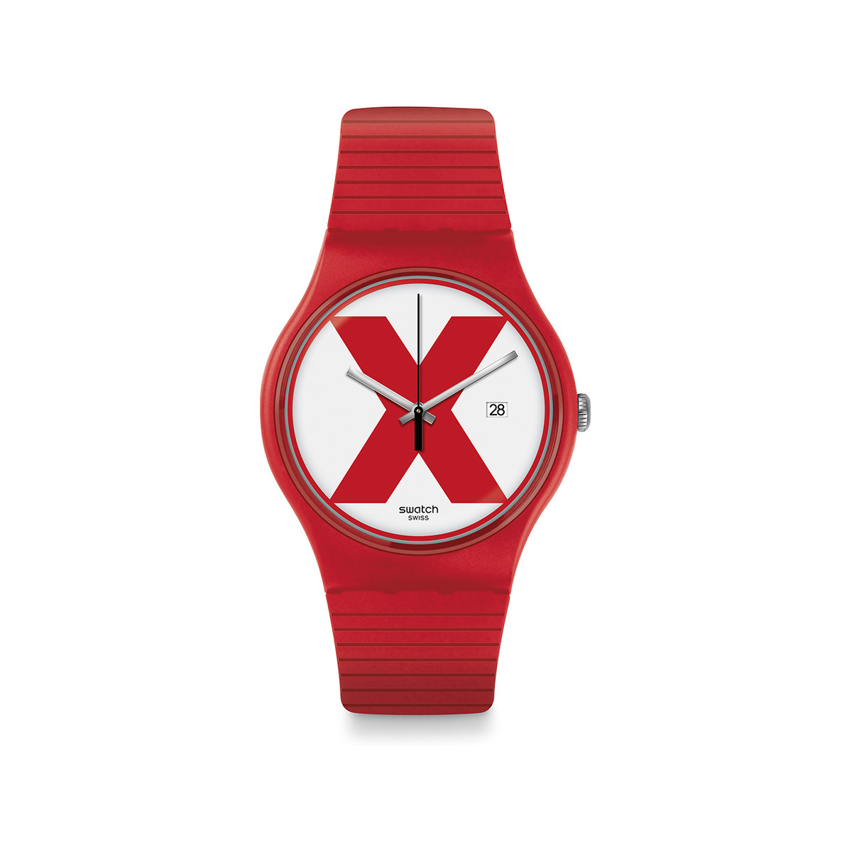 Montre Swatch XX rated red mixte plastique rouge - vue V1