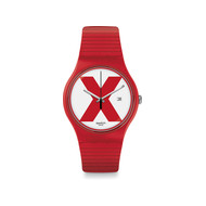 Montre Swatch XX rated red mixte plastique rouge