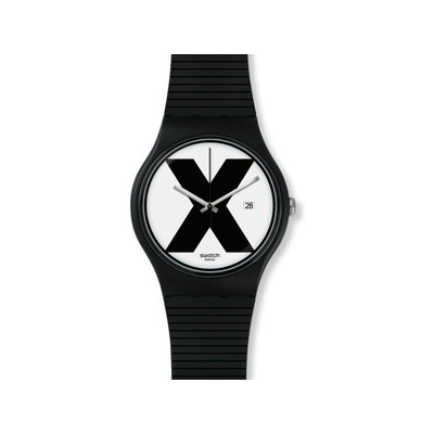 Montre Swatch Xx rated black mixte plastique noir - vue V1