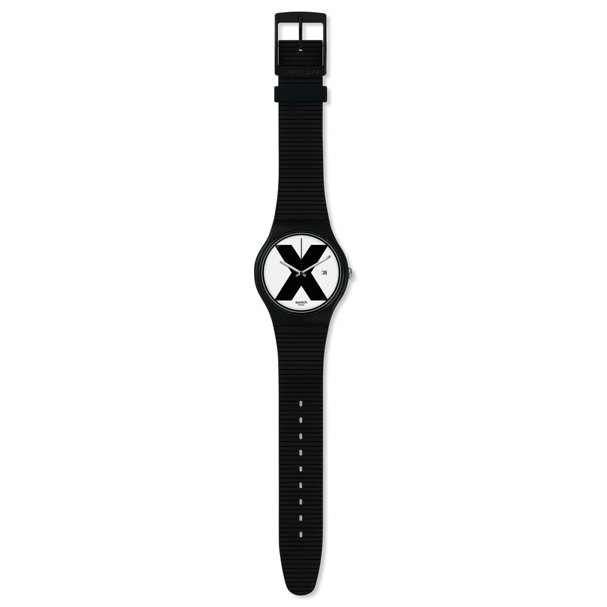 Montre Swatch Xx rated black mixte plastique noir - vue VD1