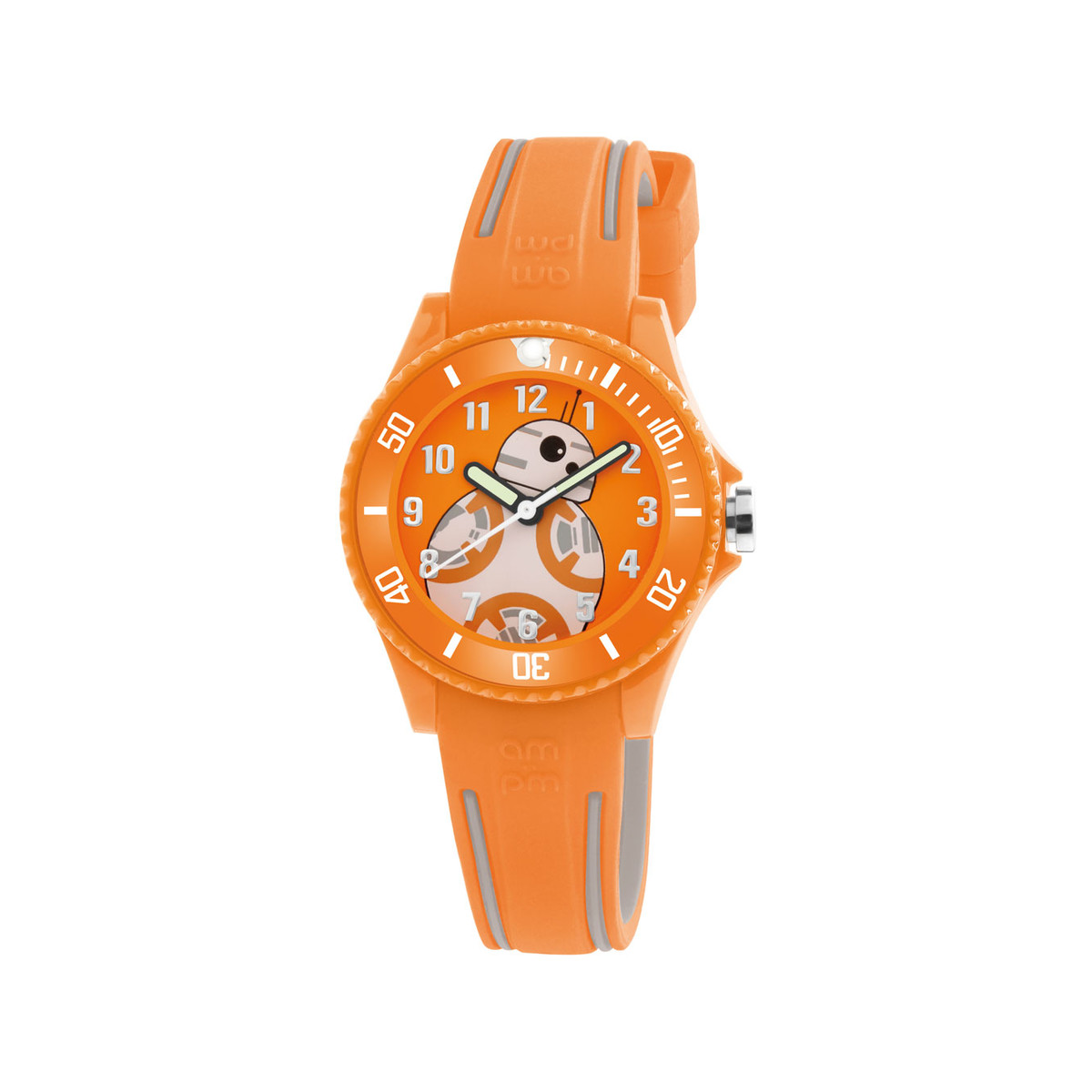 Montre AM:PM Star Wars enfant plastique orange - vue 1