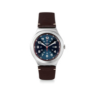 Montre Swatch Happy joe flash mixte acier cuir