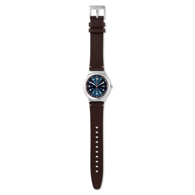 Montre Swatch Happy joe flash mixte acier cuir - vue VD1