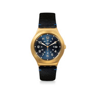 Montre Swatch Happy joe golden mixte acier doré
