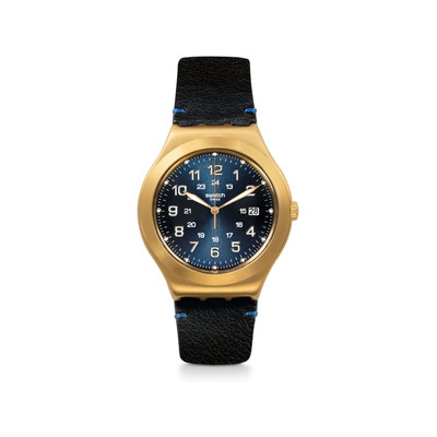 Montre Swatch Happy joe golden mixte acier doré - vue V1