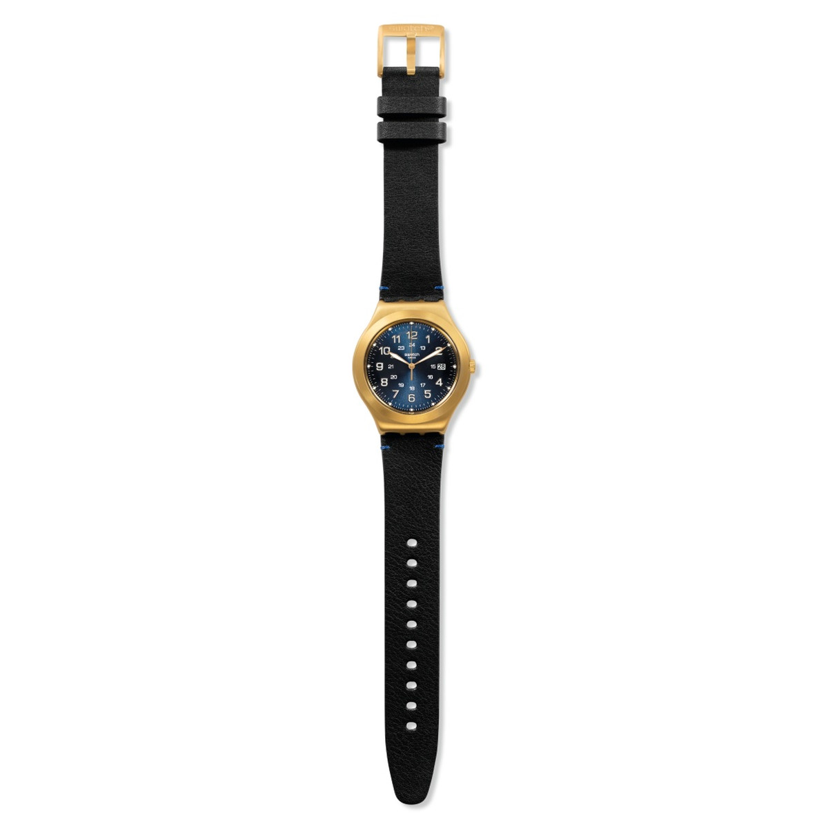 Montre Swatch Happy joe golden mixte acier doré - vue VD1
