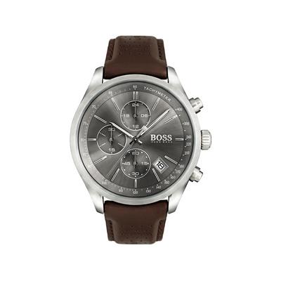 ccbdd3ec156 Montre Hugo Boss homme chronographe acier cuir - Homme - modèle 1513476