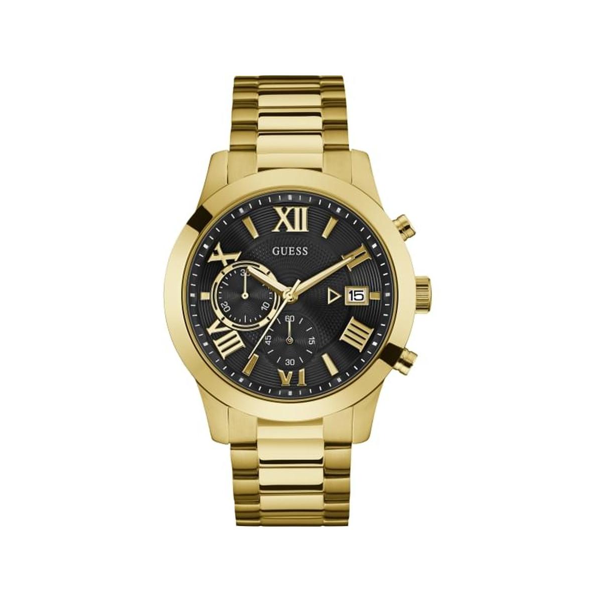 utilisation durable où puis je acheter plus grand choix Montre Guess homme acier doré chronographe