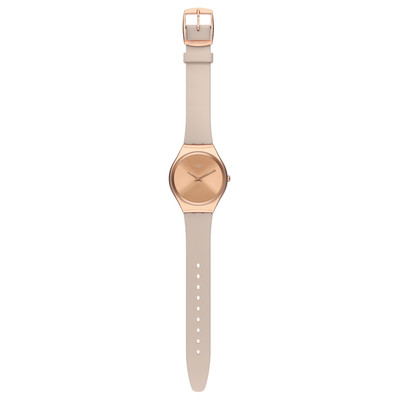 Montre Swatch Skinrosee mixte acier rose silicone - vue VD1