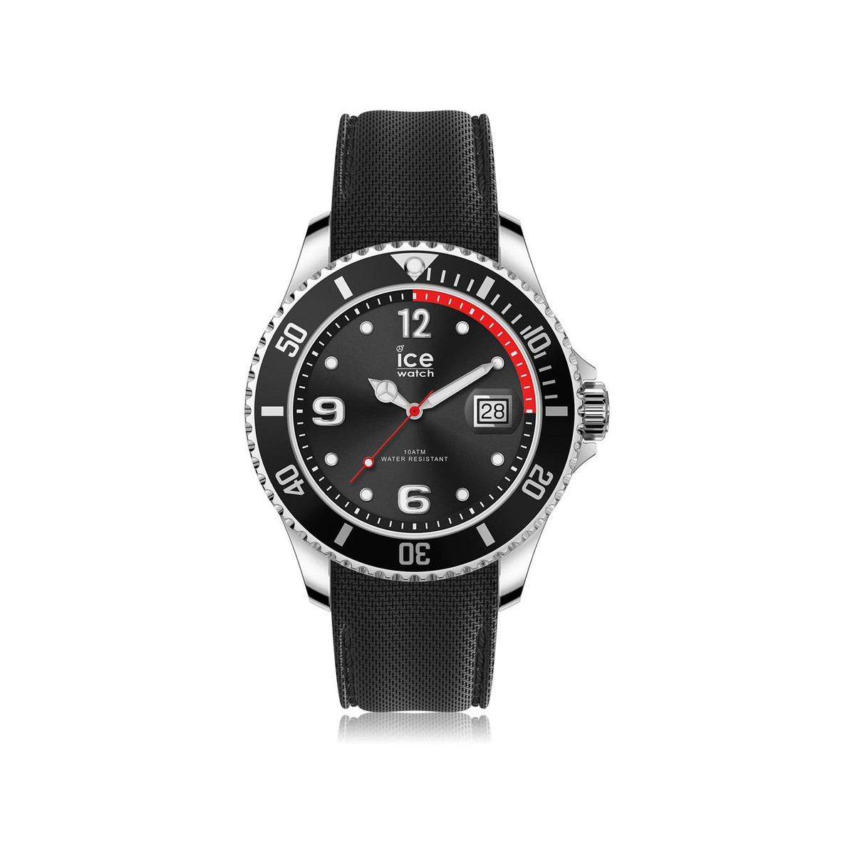Montre Ice-Watch homme large silicone noir
