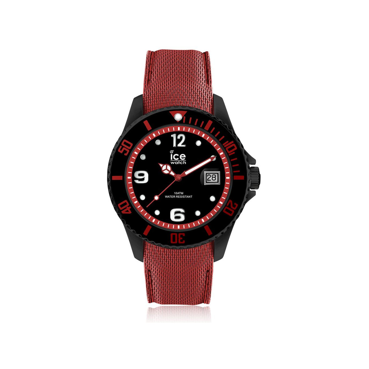 Montre Ice-Watch homme large silicone rouge