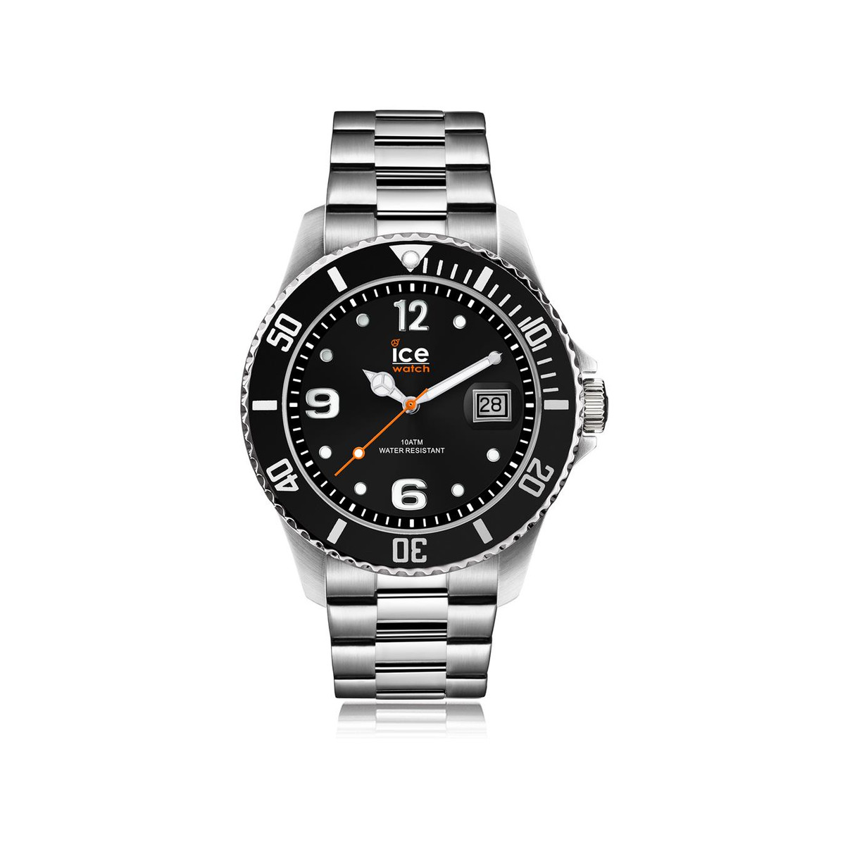 Montre Ice-Watch homme médium acier black