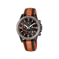 Montre Lotus homme cuir orange