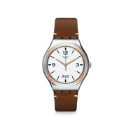 Montre Swatch Irony homme acier cuir
