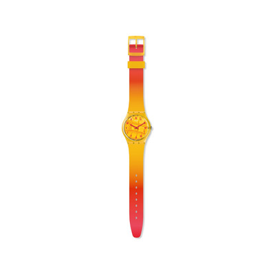 Montre Swatch mixte plastique silicone orange - vue V2