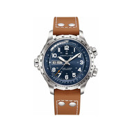 Hamilton khaki aviation cuir acier
