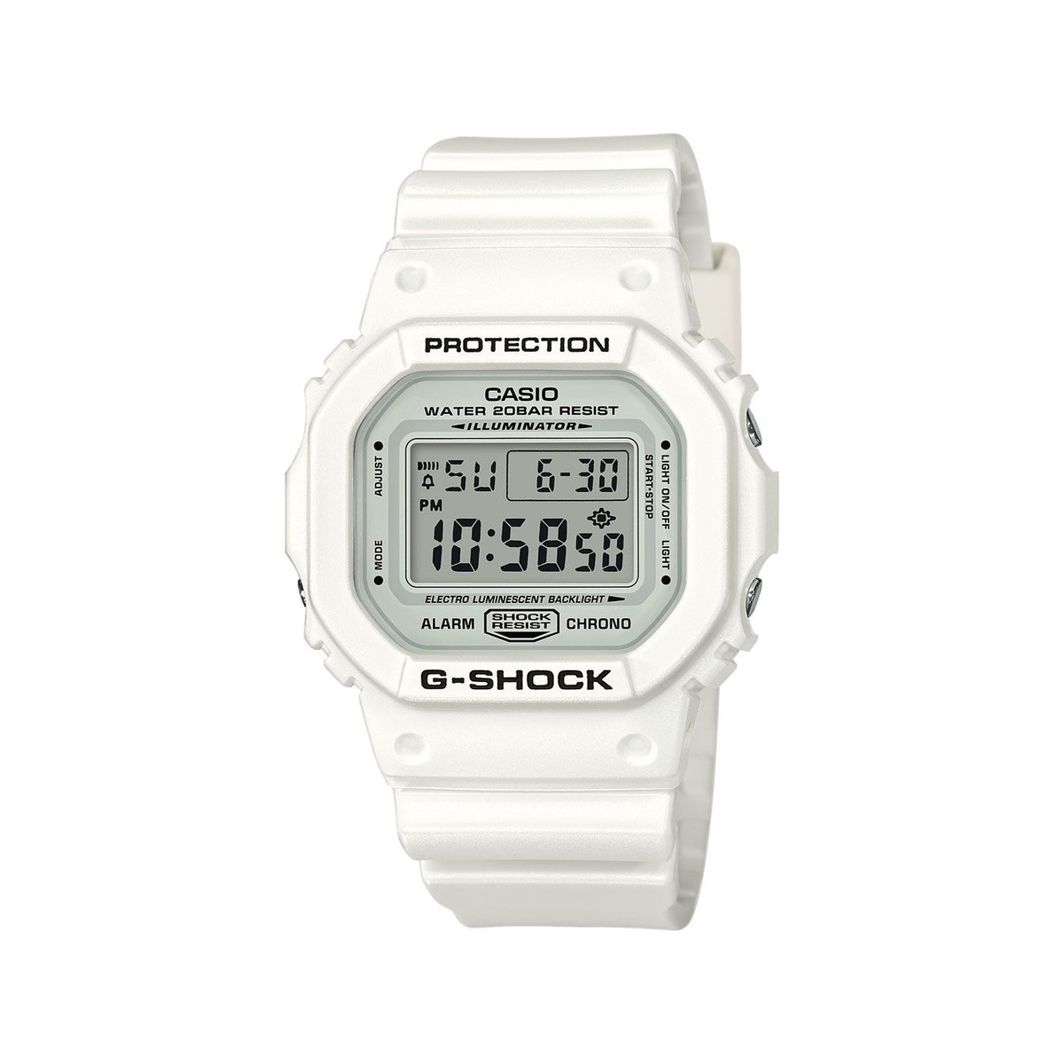 plus récent 9e6eb 82d90 Montre Casio G-Shock homme digitale résine blanc