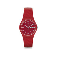 Montre Swatch mixte silicone plastique rouge