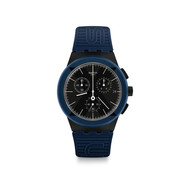 Montre Swatch homme chronographe silicone bleu