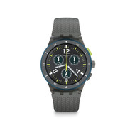 Montre Swatch homme chronographe silicone gris