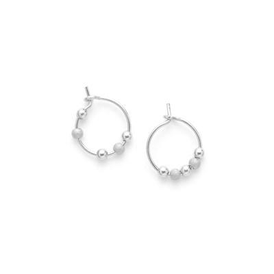 ea9fd3fcb1f Boucles d Oreilles mini anneaux Les Fruits d or argent 925 - Femme ...