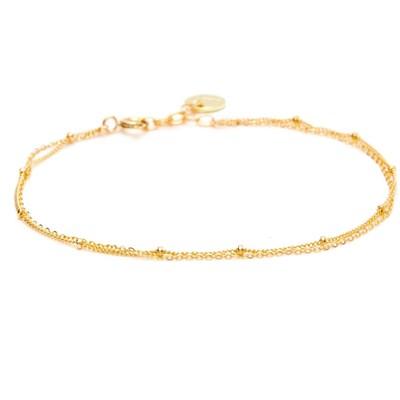 bracelet cheville dore