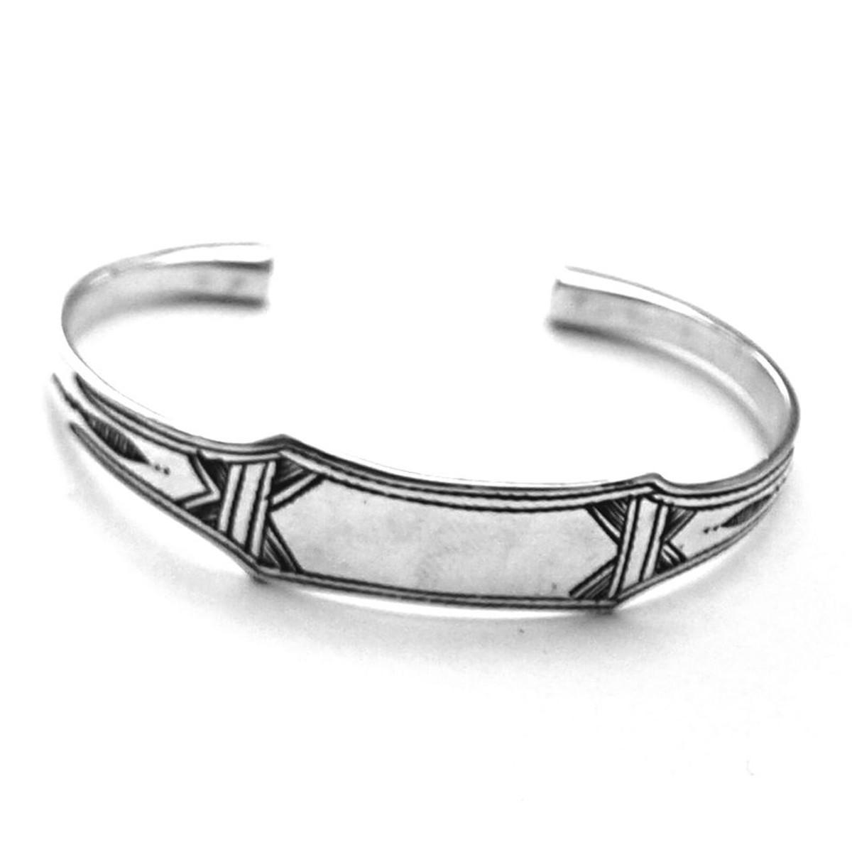 bracelet femme argent massif