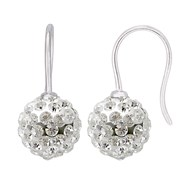 Boucles d'Oreilles 'Pure WHITE' - Boules Véritable Crystal Blanc - STELLA - Collection CRYSTAL PEARL