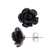 Boucles d'Oreilles 'BLACK ROSE' - STELLA - Collection LOVE JEWELRY