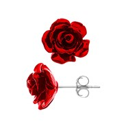 Boucles d'Oreilles 'RED ROSE' - STELLA - Collection LOVE JEWELRY