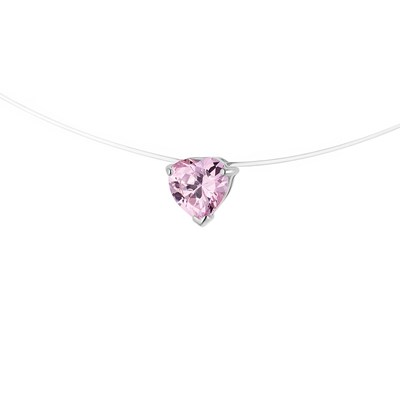 Collier Fil Nylon Transparent Orné d'un Solitaire - STELLA - Collection LOVE JEWELRY - vue V1