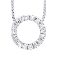 Collier CERCLE Diamant - Or Blanc 9 Carats