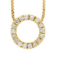 Collier CERCLE Diamant - Or Jaune 9 Carats