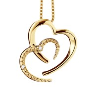 Collier HEARTS Joaillerie Prestige Diamant - Or Jaune 9 Carats