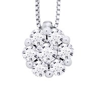 Collier Solitaire Joaillerie Prestige Diamant - Or Blanc 9 Carats